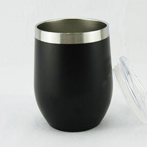 Double Wall Stainless Steel Mug 360ml- Black