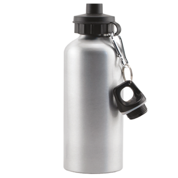 Aluminium Bottle 600ml 2 lid- Silver