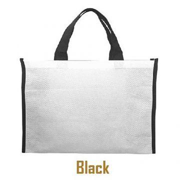 Nonwoven Horizontal Bag- Side Panel Black
