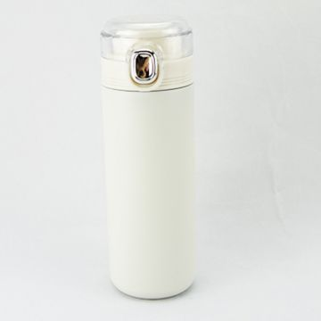 Double Wall Stainless Stell Bottle 400ml- White