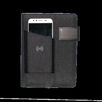 Fabric Organizer- With Powerbank 4000mAh and Wireless charger- Dark Grey