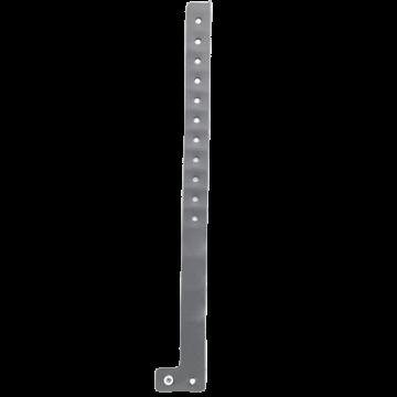 L Shape PVC Wristband- Silver