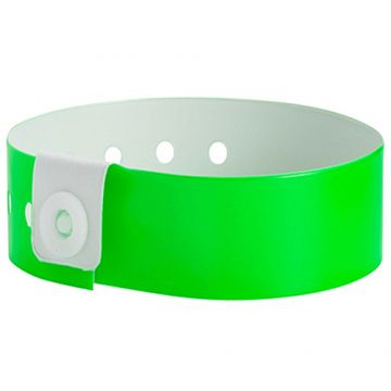 Wide Face PVC Wristbands- Lime green