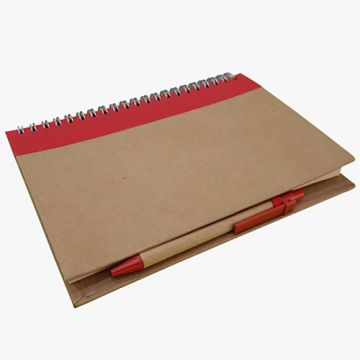 Spiral Recycle Notebook- Red