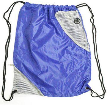 Draw String Bag- Royal Blue Alaska with Pocket