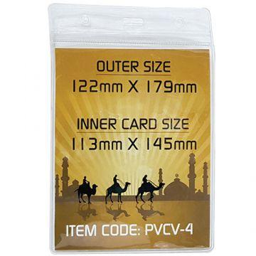 ID Card Pouch PVC 113x145mm- Vertical