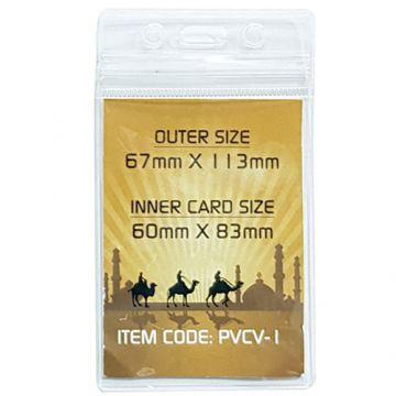 ID Card Pouch PVC 67x98mm- Vertical