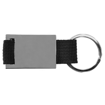 Key Chain Model 7 with Colored Strap- Black
