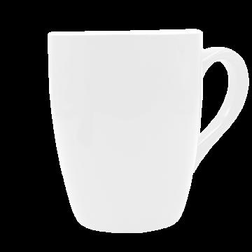 Mug U Shaped Ceramic- White