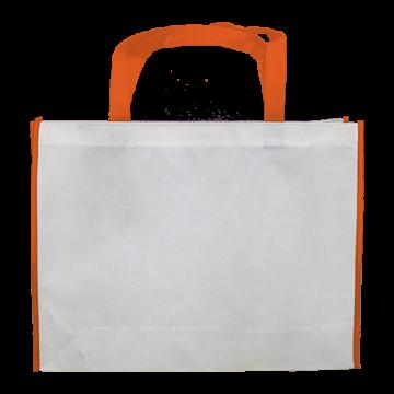Nonwoven Horizontal Bag- Border Orange