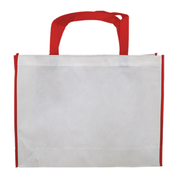 Nonwoven Horizontal Bag- Border Red