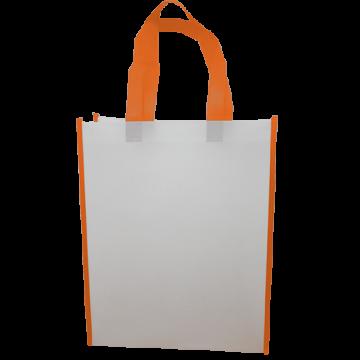Nonwoven Vertical Bag- Border Orange