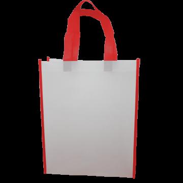 Nonwoven Vertical Bag- Border Red