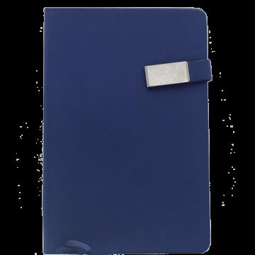 Notebook A5 PU Magnetic Loop- Blue