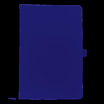 Notebook A6 PU with pen holder- Blue