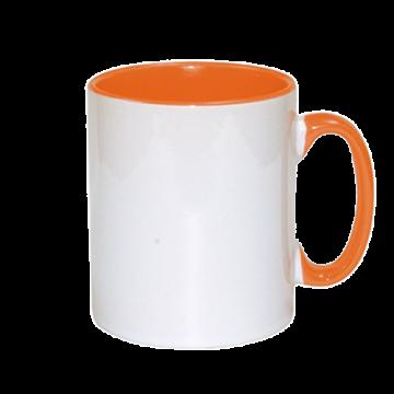 Mug Sublimation Inner Color- Orange