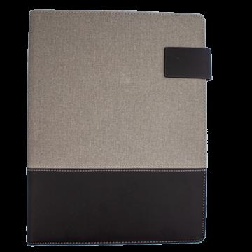 Organizer Folder with Powerbank- Grey & black