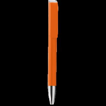 Plastic Pen Model 1 Full color- Orange