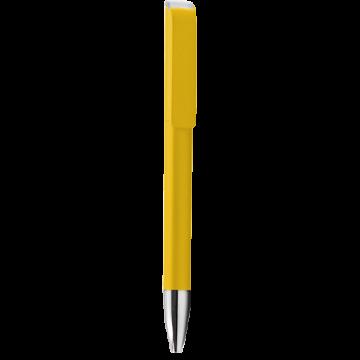 Plastic Pen Model 1 Full color- Yellow