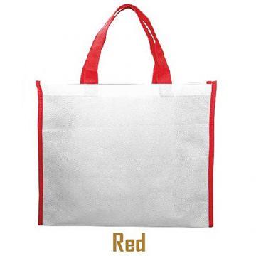 Nonwoven Horizontal Bag- Side Panel Red
