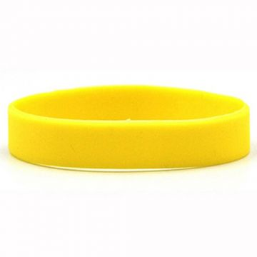 Silicon Wrist Band- Yellow