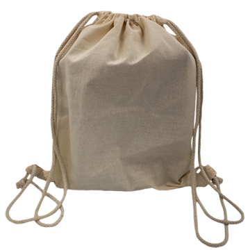 STRING BAG WITH ROPE BLACK