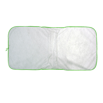 Sunshade White- Green Border