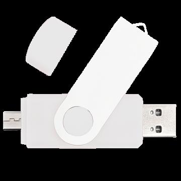 Swivel OTG USB 4GB- White
