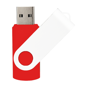 Swivel USB with White Plate