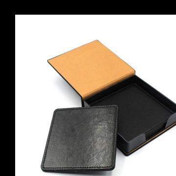 Tea Coaster Set Square- Black