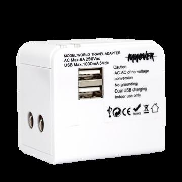 Universal Power Adapter Model 2- White