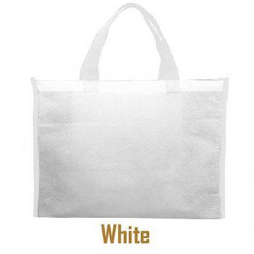 Nonwoven Horizontal Bag- Side Panel White