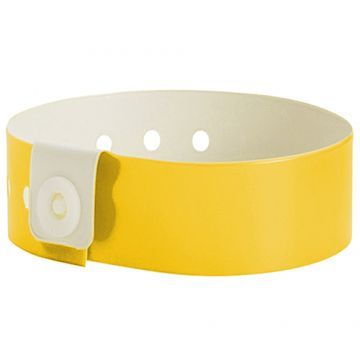 Wide Face PVC Wristbands- Yellow