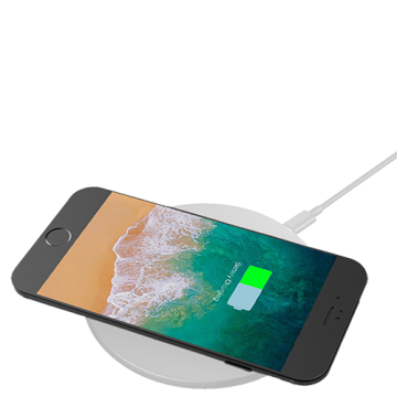 Wireless charger Round Model 2- White